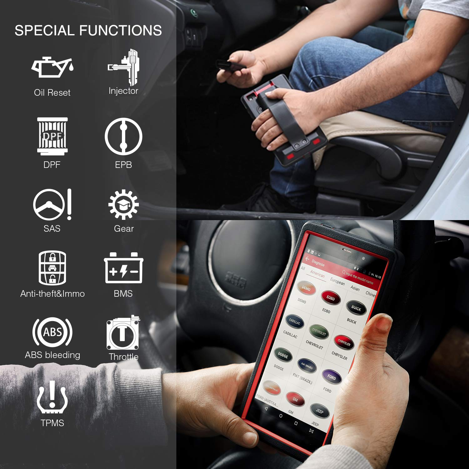 LAUNCH X431 Pro Mini Wifi/Bluetooth Bi-Directional OBD OBD2 Scan Tool Actuation Test, ECU Coding, Key Fob Program,Reset Functions, Free Update 2 YRs, ALL System OBD2 Diagnostic Scanner by LAUNCH (Image #3)