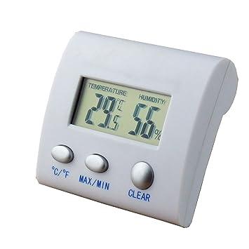 Termómetro digital LCD, mini higrómetro digital Muzee Higrómetro y humedad - Lectura precisa - (