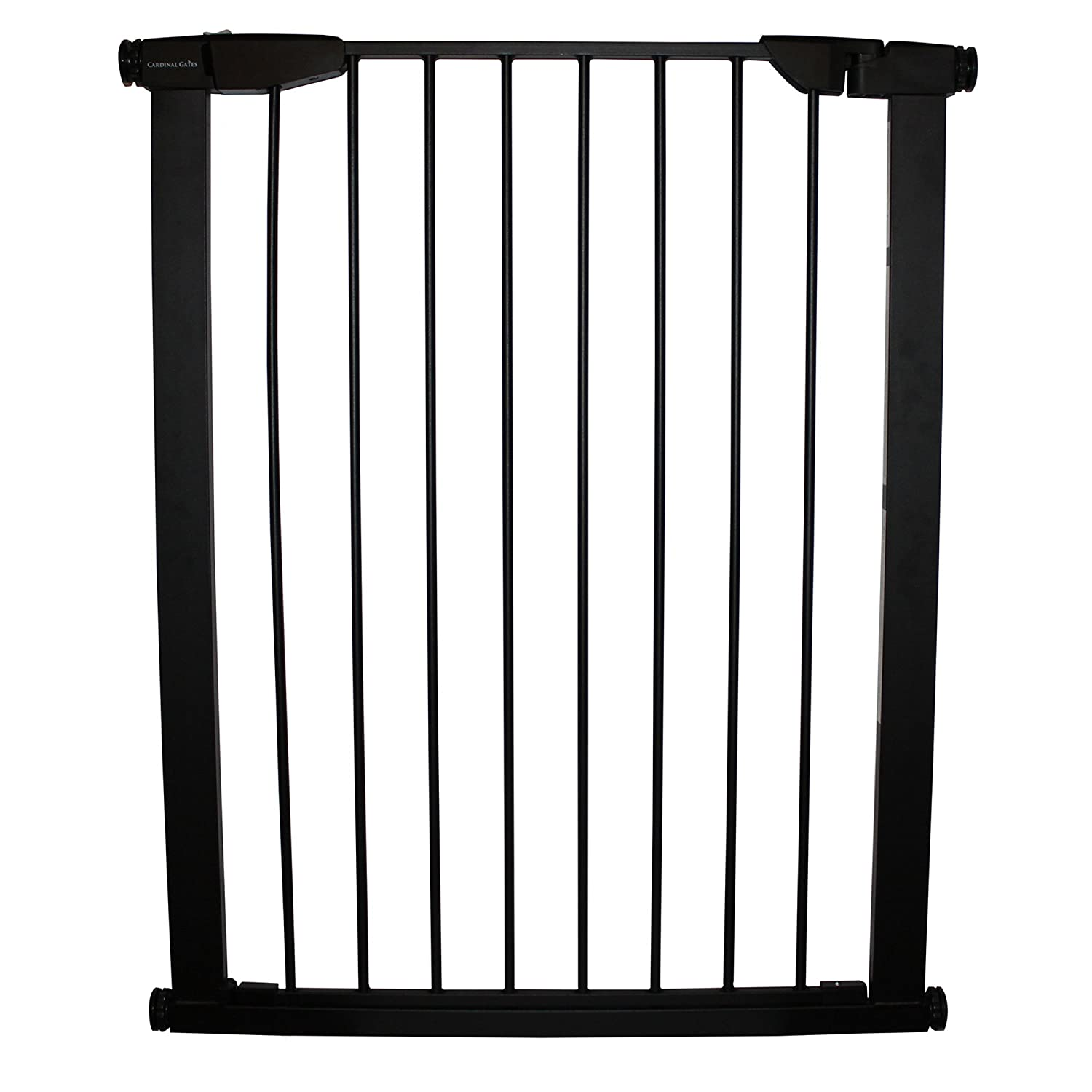 """Cardinal Gates Extra Tall Auto-Lock Gate, Black: Pressure Mounted Baby Gate, 36"""" for a Tall Baby Gate"""