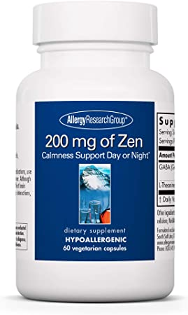 Allergy Research Group - 200 mg of Zen - Stress Relief and Sleep Support - 60 Vegetarian Capsules
