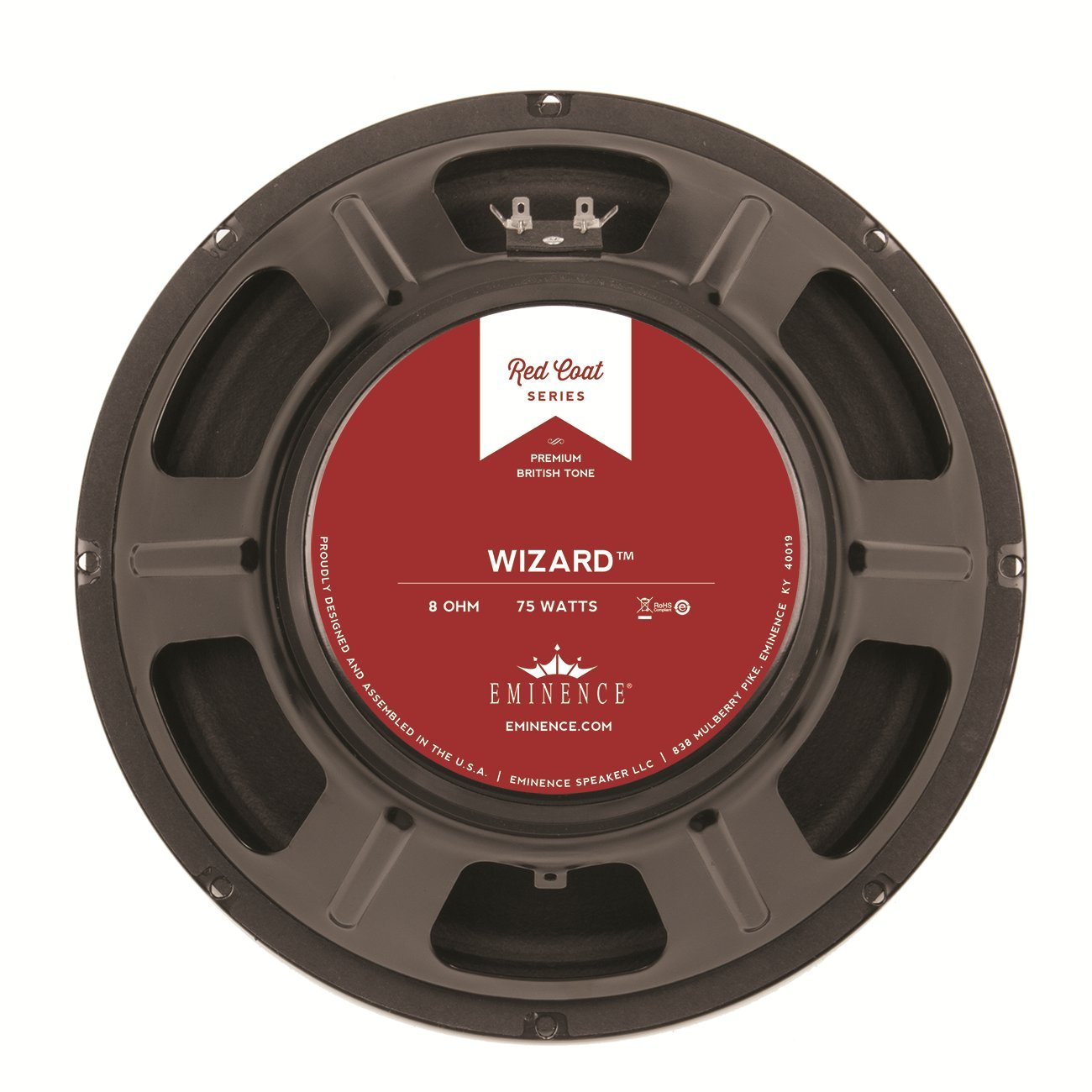 Eminence Red Coat Wizard 12'' Guitar Speaker, 75 Watts at 8 Ohms