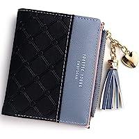 Wallet for Women Leather Short Wallet Bifold, RFID Blocking Wallet Credit Card Holder Organizer with Zipper Pocket Mini…