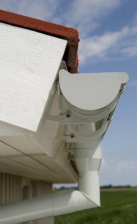plastique demi-rond goutti/ère de pluie goutti/ère de toit blanc NW 100 INEFA Raccord de goutti/ère NW 100