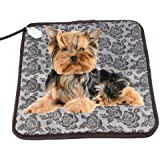 FLYMEI Waterproof Electric Heating Pads for Pets with Anti Bite Tube, Constant Temperature Warming Bed for Dogs &Cats