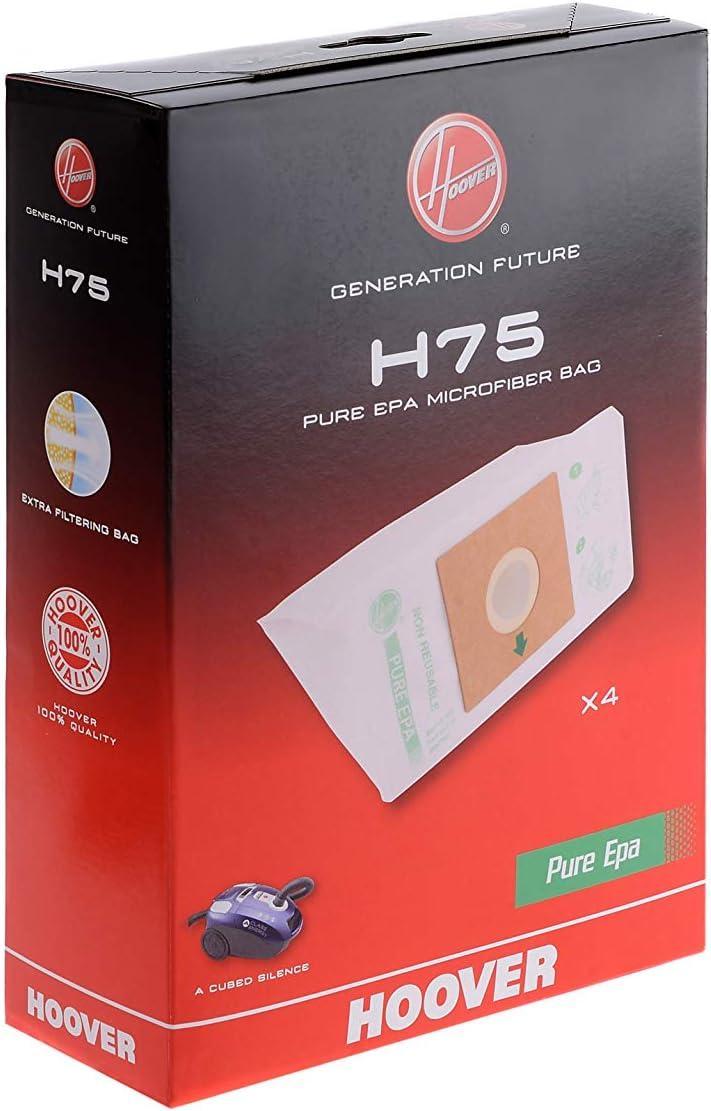 Hoover H75 H75-Hoover Bolsa para aspiradora Pure-Epa.Compatible con los Modelos A-Cubed, Optimum Power, Thunder Space. Incluye 4 uds, 5 litros, Nailon: Amazon.es: Hogar