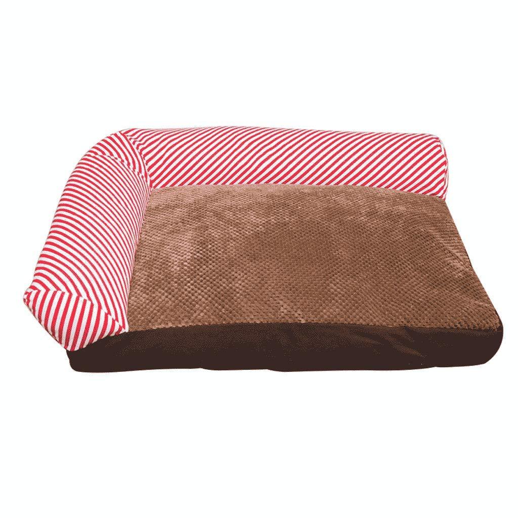 Pink Medium Pink Medium golden Retriever Kennel Teddy Fully Detachable Autumn And Winter Dog Bed Labrador Samoyed Dog Mat Large Dog Pet Worm WHLONG (color   Pink, Size   M)