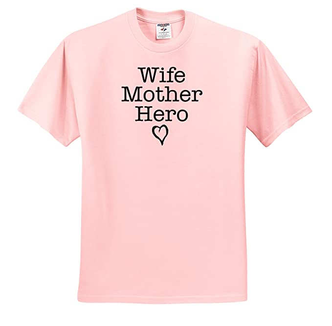 Amazoncom Evadane Quotes Wife Mother Hero T Shirts Adult