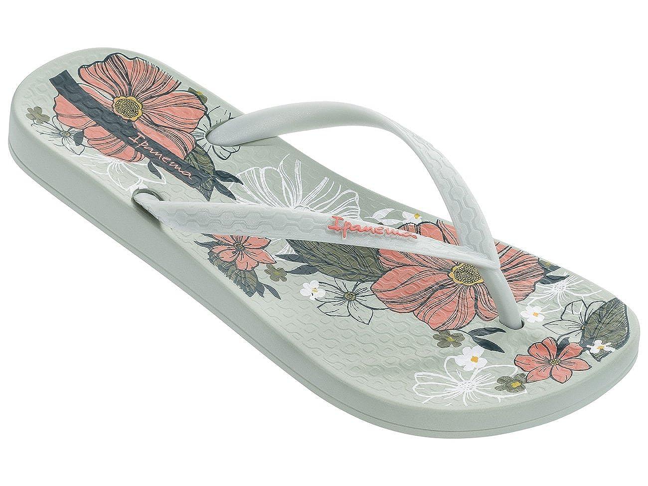 Ipanema Womens Petal Flip Flops Patterned Footbed