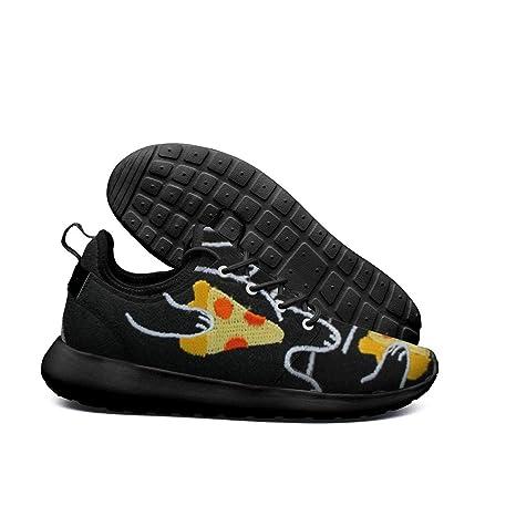 76e60767a9a92 DEEEWKF Black mr cat Hawaiian Pizza Vegetarian Mens 2018 Ultra Lighweight  Sneakers Lightweight