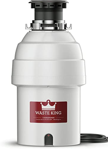 Waste King L-8000 Garbage Disposal with Power Cord, 1 HP