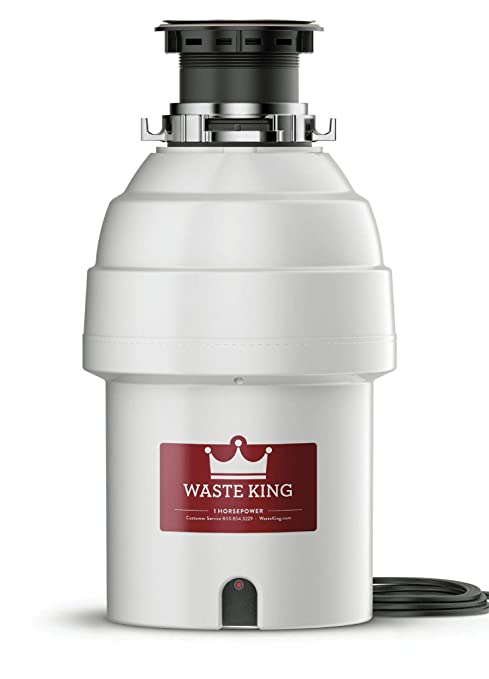 Waste King L 8000 Garbage Disposal With Power Cord, 1 Hp by Waste King