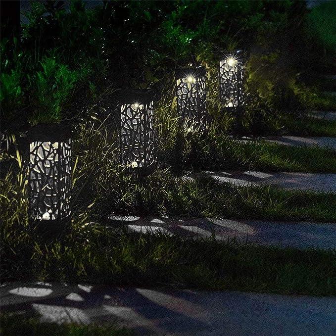Liquidación! WATOPI - Luces solares para caminos (4 unidades ...