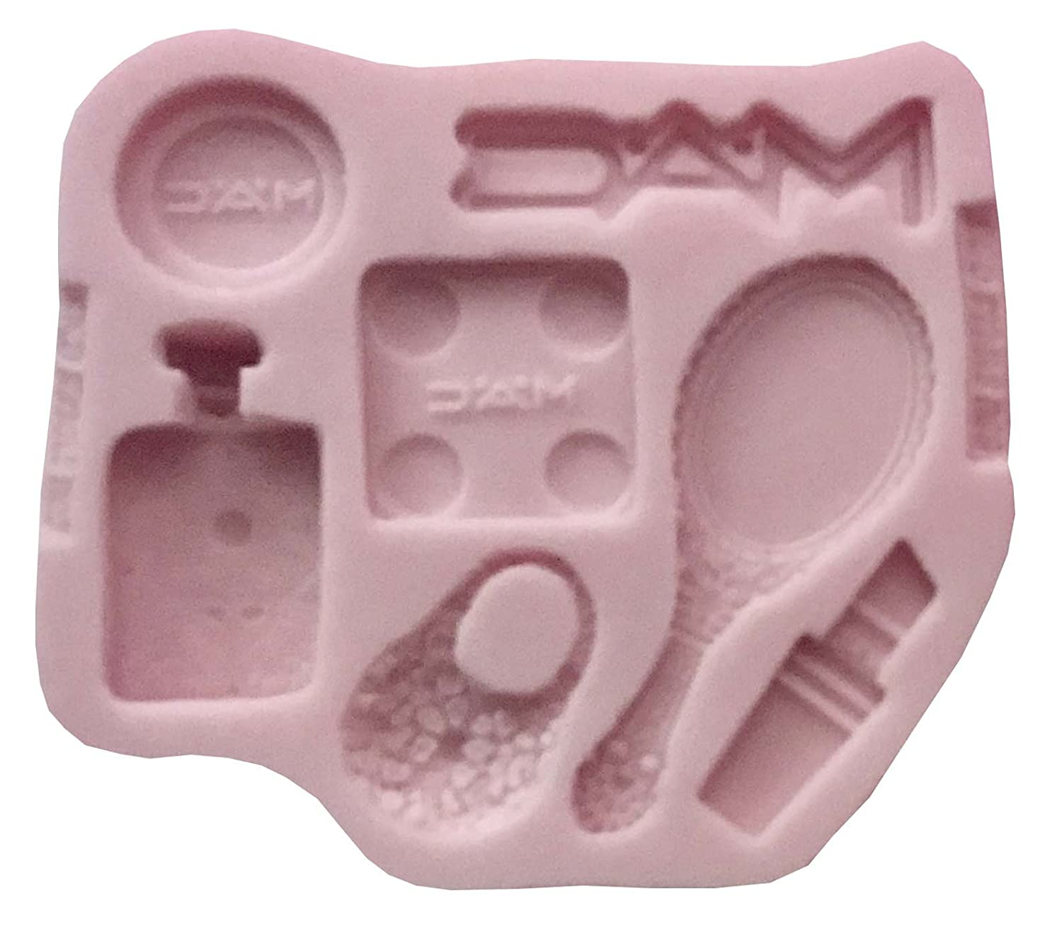 MAC SET GIRL logo, make up, famous brand Silicone Mold By Oh! Sweet Art