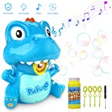 Pickwoo Bubble Machine for Kids Automatic Bubble Blower Indoor & Outdoor Activities with LED Light and Music, Kids Portable Bubble Maker with Dual Mode, Bubble Machine Toys for Toddlers Boys Girls