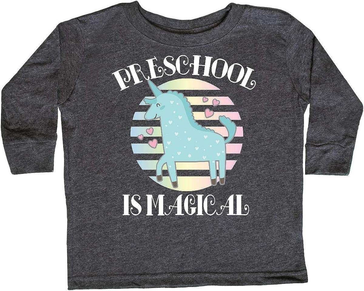 inktastic Preschool is Magical Cute Unicorn Toddler Long Sleeve T-Shirt