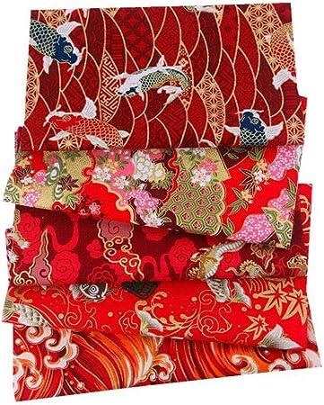 Heoolstranger 5 piezas Floral Cotton Cloth Japonés handgemachte ...