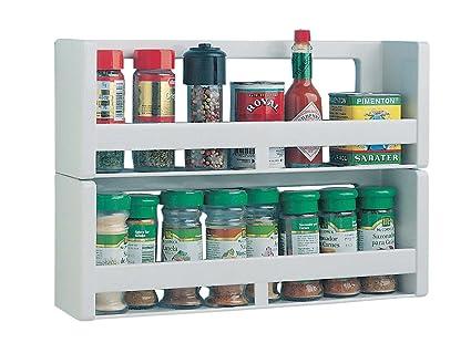 Bernar - Mensole cucina, portaspezie, doppia parete in plastica 7 ...