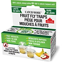 CatchMore Fruit Fly Traps, 100% Natural, Always Active, Pack of 2 Traps