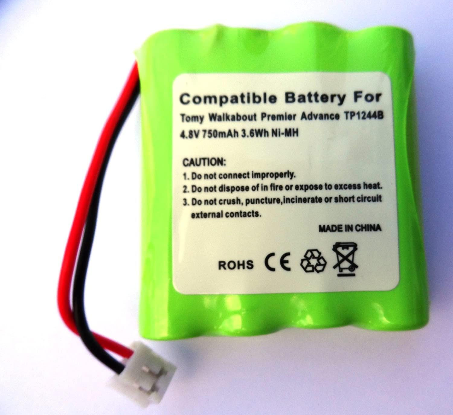 4,8/V rechargeable tp1344b Batterie pour Tomy Walkabout Babyphone