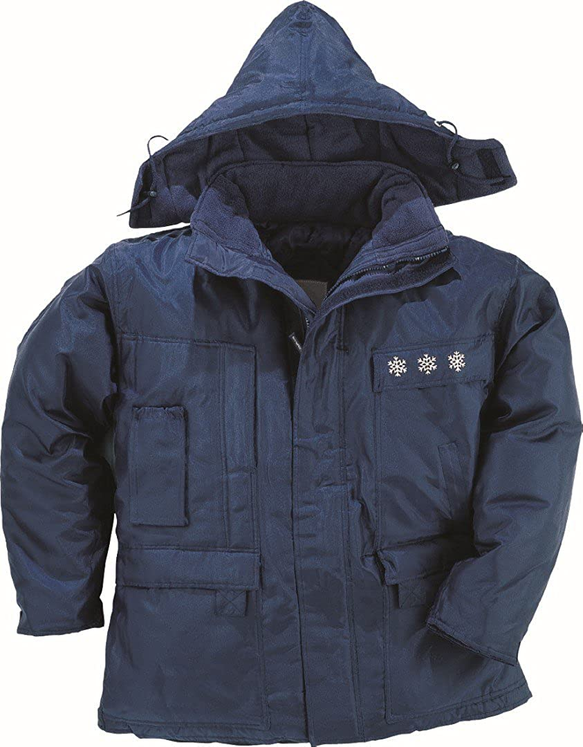 Panoply Laponie II Freezerwear Quilted Jacket For Extreme Cold Conditions Navy Blue