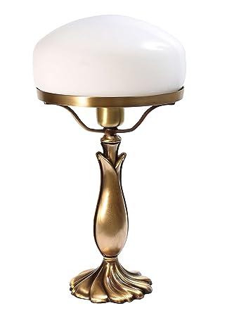 Exclusiva lámpara de mesa SETA lámpara pie (latón bronce ...