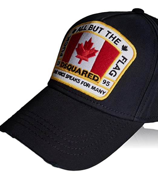 48a3adf4cbd4d9 DSQUARED2 Black Baseball Cap | Genuine B-Quality Trendy Baseball Hat for Men  & Women