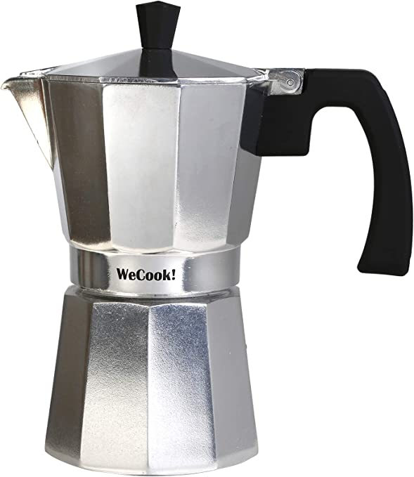 Wecook 40112 Cafetera Italiana De 12 Tazas Aluminio, Gris: Amazon ...