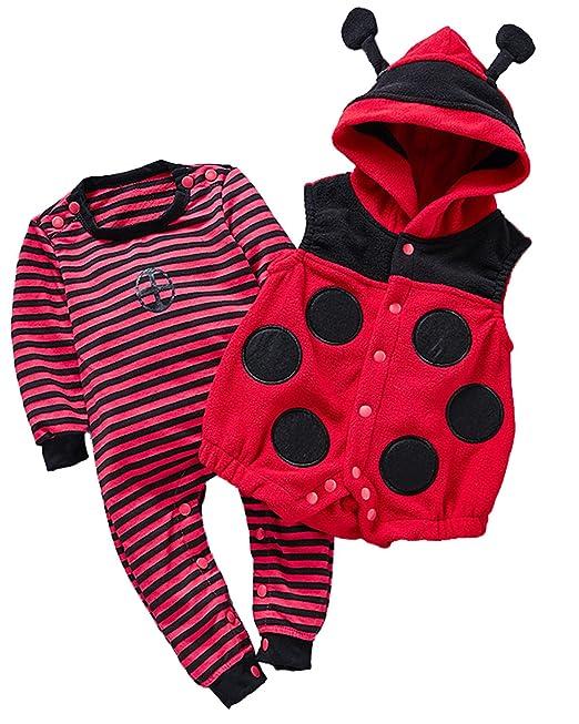 Kidsform Unisex Pelele para Dormir Rompers Bebe Bodysuits 0-24 Mes 2PCS Algodón Mameluco Rojo 80/9-12M: Amazon.es: Ropa y accesorios