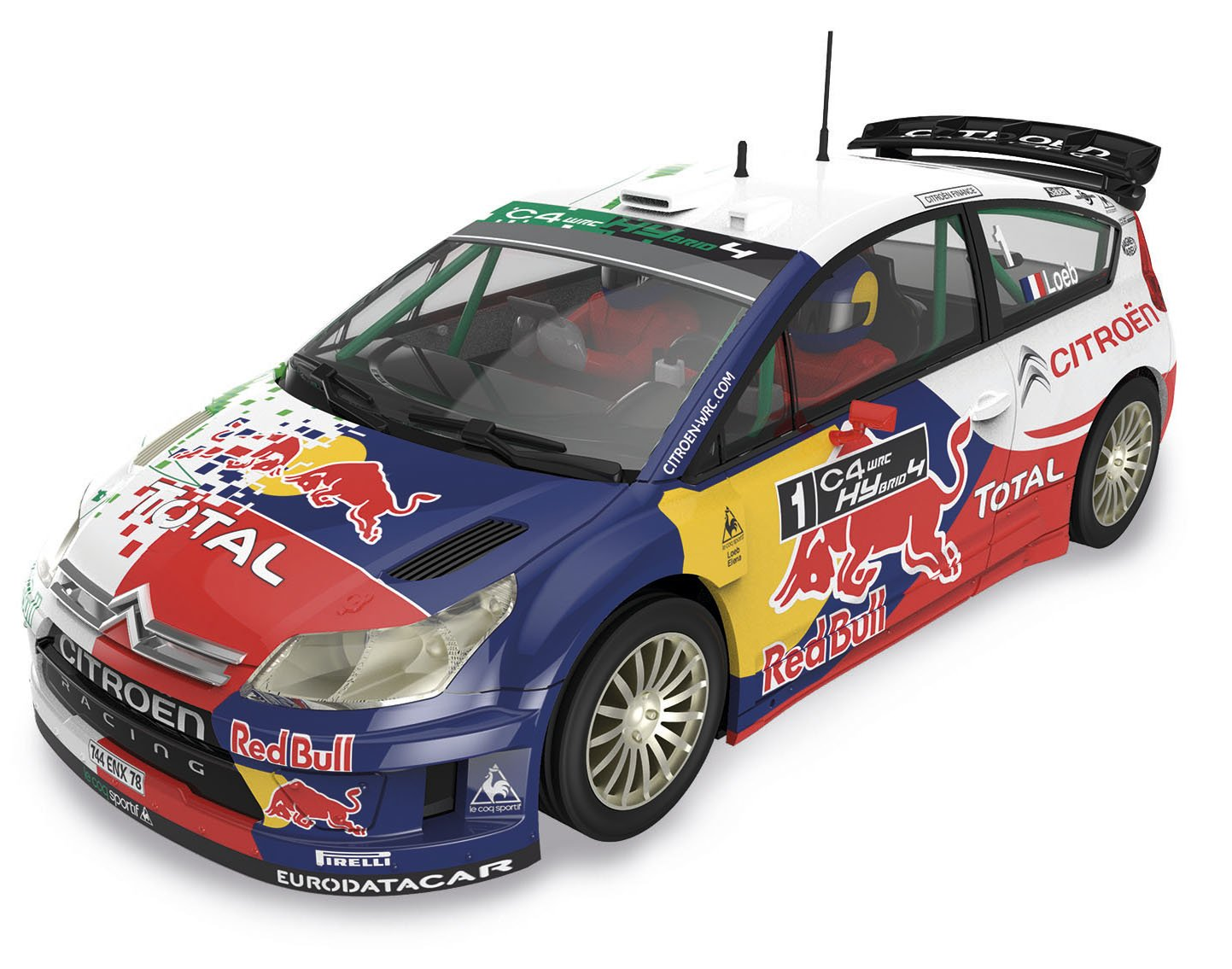 Scalextric Original Citroën C WRC Hybrid Loeb coche slot analógico AS
