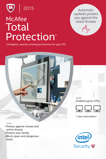 McAfee 2015 Total Protection 3PC [Online Code]