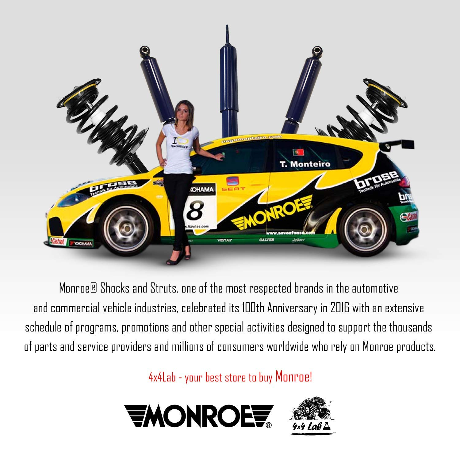 Monroe Quick Mount Kit of 2 Shocks fits Mazda 3 2004-2009 OESpectrum Rear for Replacement Touring /& Offroad Performance Leveling