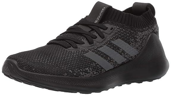 adidas Women's Purebounc+, Black/Night Metallic/Grey, 5 M US