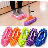 Rukiwa 1 Pair Mop Slipper Floor Polishing Cover Cleaner lazy Dusting Cleaning Foot Shoes
