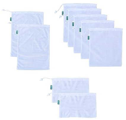 Earthwise Bolsas para compras reutilizable Set de 9-3 Blanco