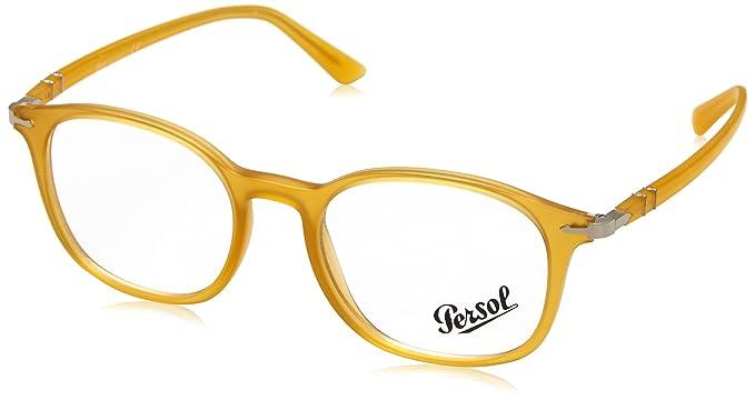 Persol 0PO3182V, Monturas de Gafas para Hombre, Amarillo (Matte Yellow), 51: Amazon.es: Ropa y accesorios