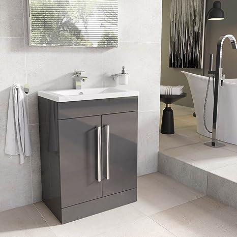 info for 0ad60 5d21e The Bath People Newton Anthracite Vanity Unit - Bathroom Cupboards - FS  515mm Vanity Unit - Ceramic Basin