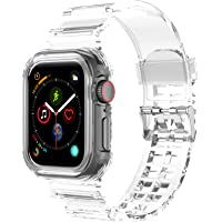 T Tersely Replacement Silicone Band Compatible with Apple Watch 42mm/44mm with Bumper Case, Sport Cases Rugged Bands…