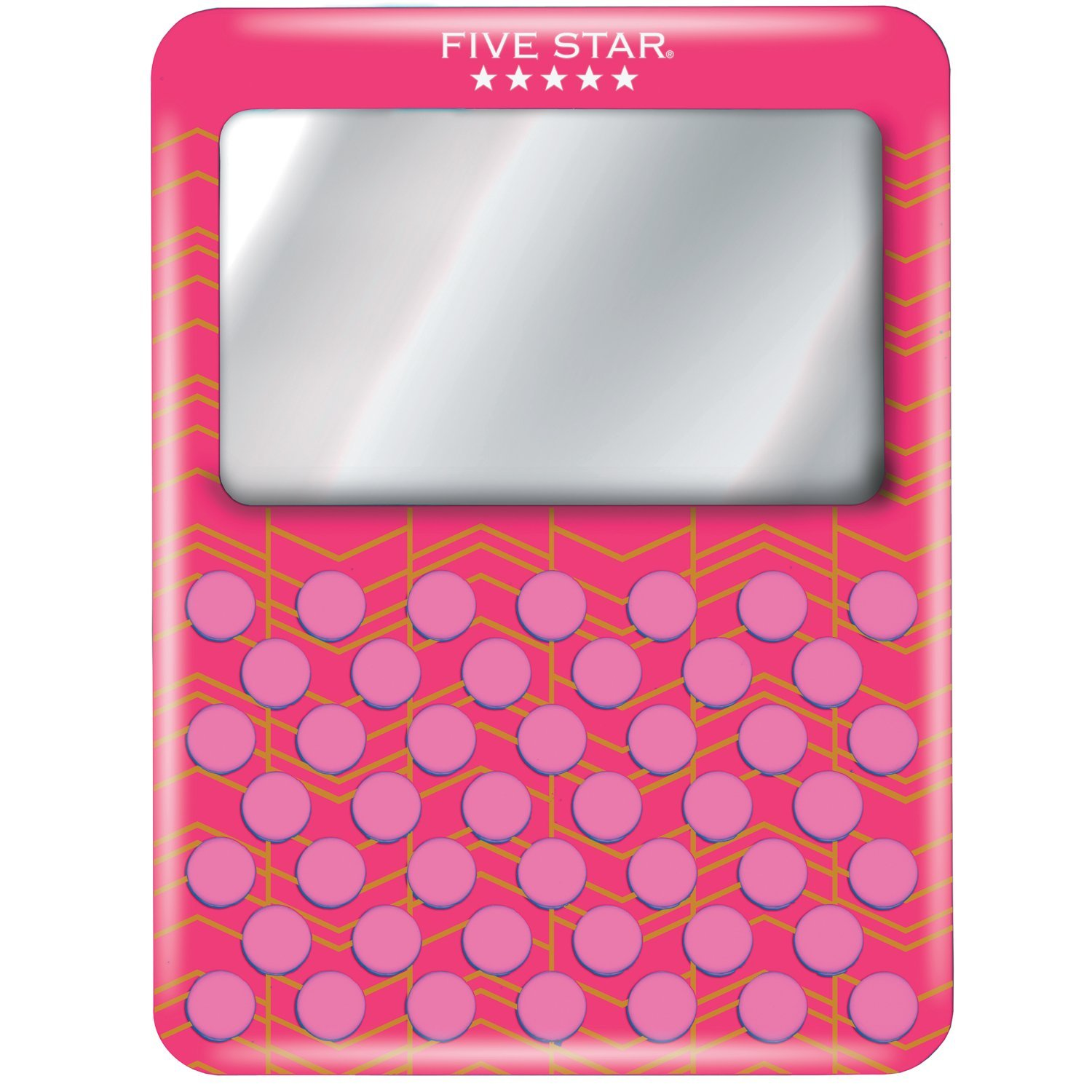 Five Star Locker Accessories, Magnetic Mirror with Push Pin Board, Color Will Vary (81248)