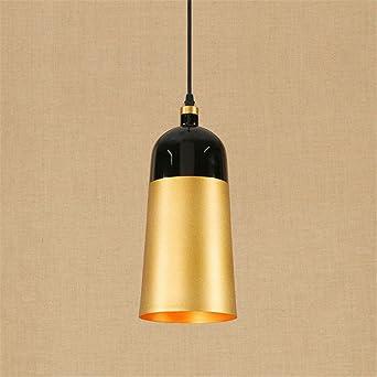 E27 Moderno luces colgantes de lujo Golden lámparas de techo ...