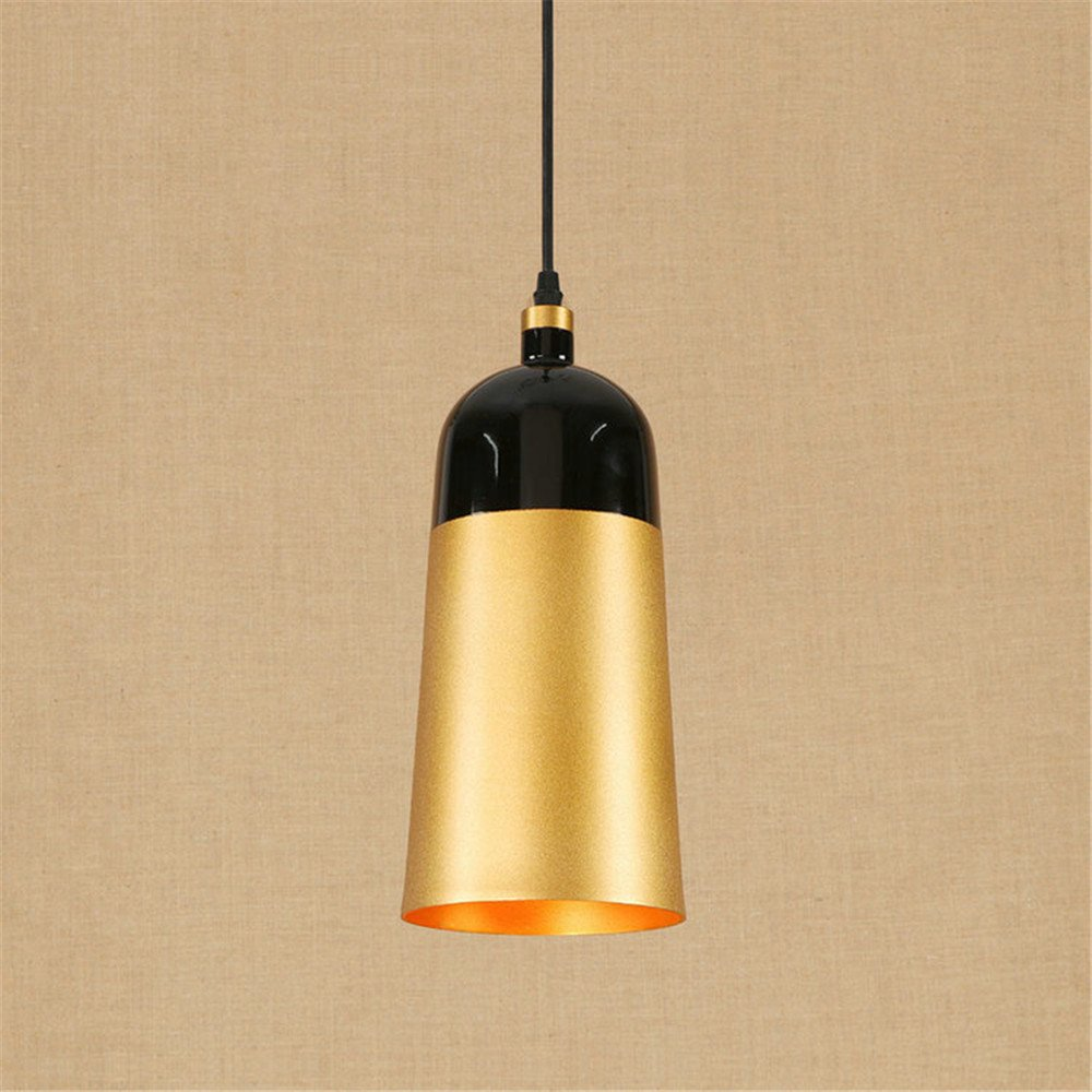 E27 Modern Luxury Pendant Lights Golden Ceiling Lights Industrial Retro Cylindrical Chandelier Bedroom Living Room Hotel Mall Cafe Bar Mall Bathroom Home Decor Hanging Lights Indoor Lighting Lamp,A