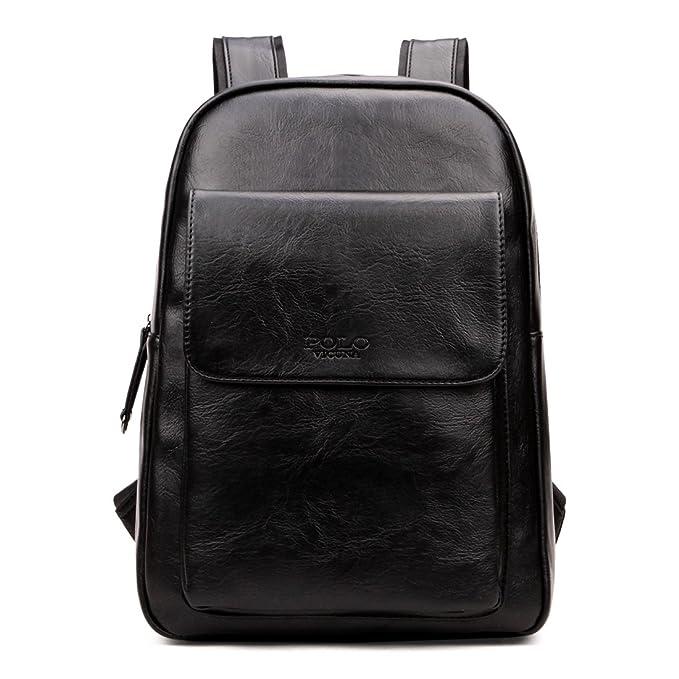 a6de6bfcda93 Vicuna Polo High Capacity Men Backpack Laptop Computer Backpack School  College Rucksack (Black)