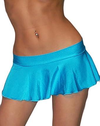 Sexy Lycra Extreme Ruffle Mini Skirt at Amazon Women's Clothing store: