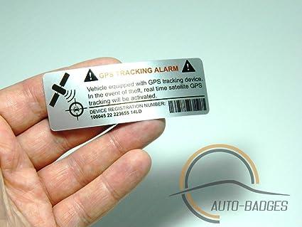 auto-badges Adhesivos de Alarma en el vehículo, 2 Unidades, Gran adherencia,