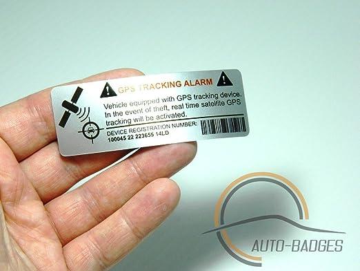 """14 opinioni per 2 adesivi per auto con scritta """"Alarm GPS Tracking"""", etichetta adesiva in vinile"""