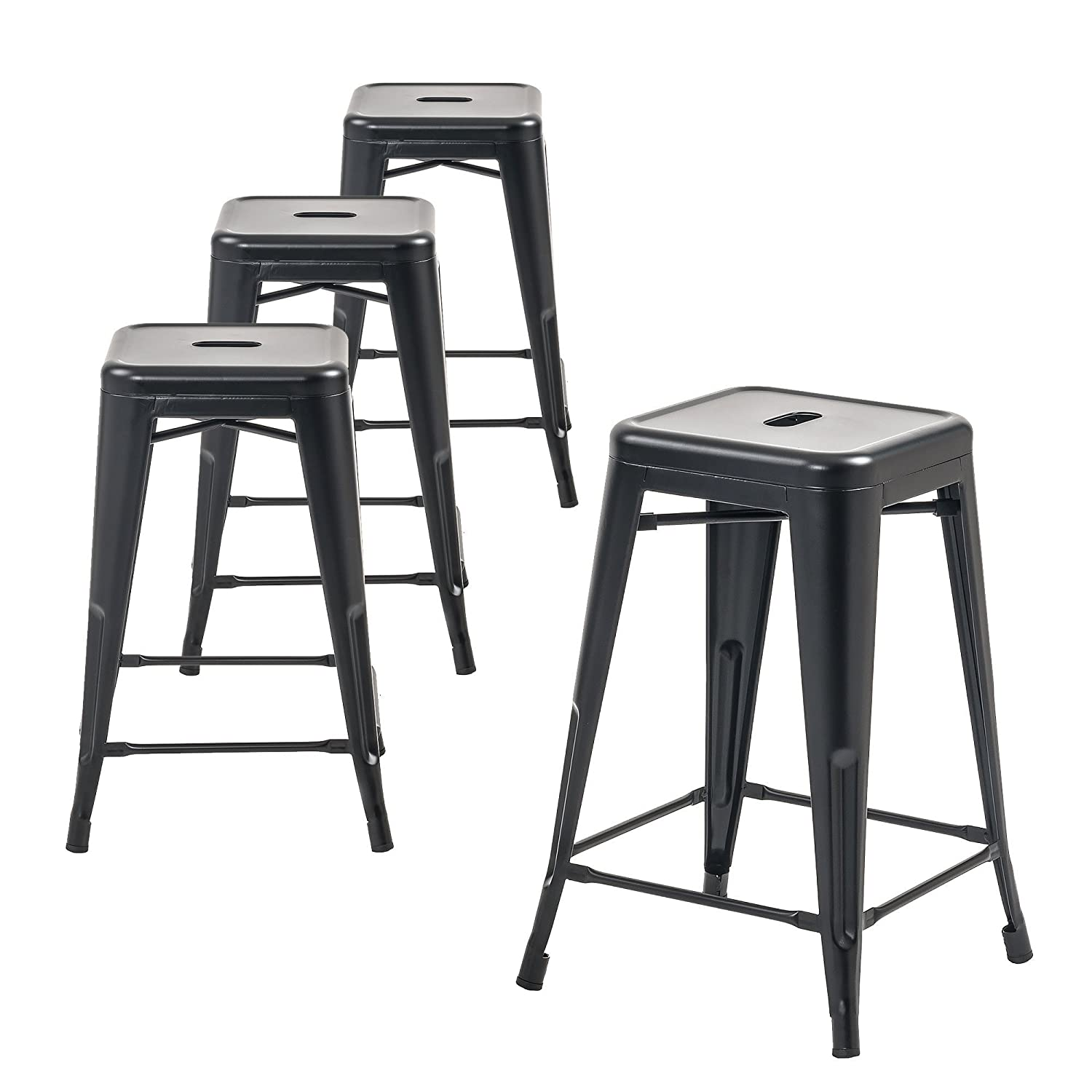 Amazon Com Buschman Metal Bar Stools 24 Counter Height Indoor