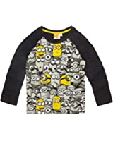 51fe8ef6181ac Minions Despicable Me Garçon Tee-shirt manches longues 2016 Collection -  gris
