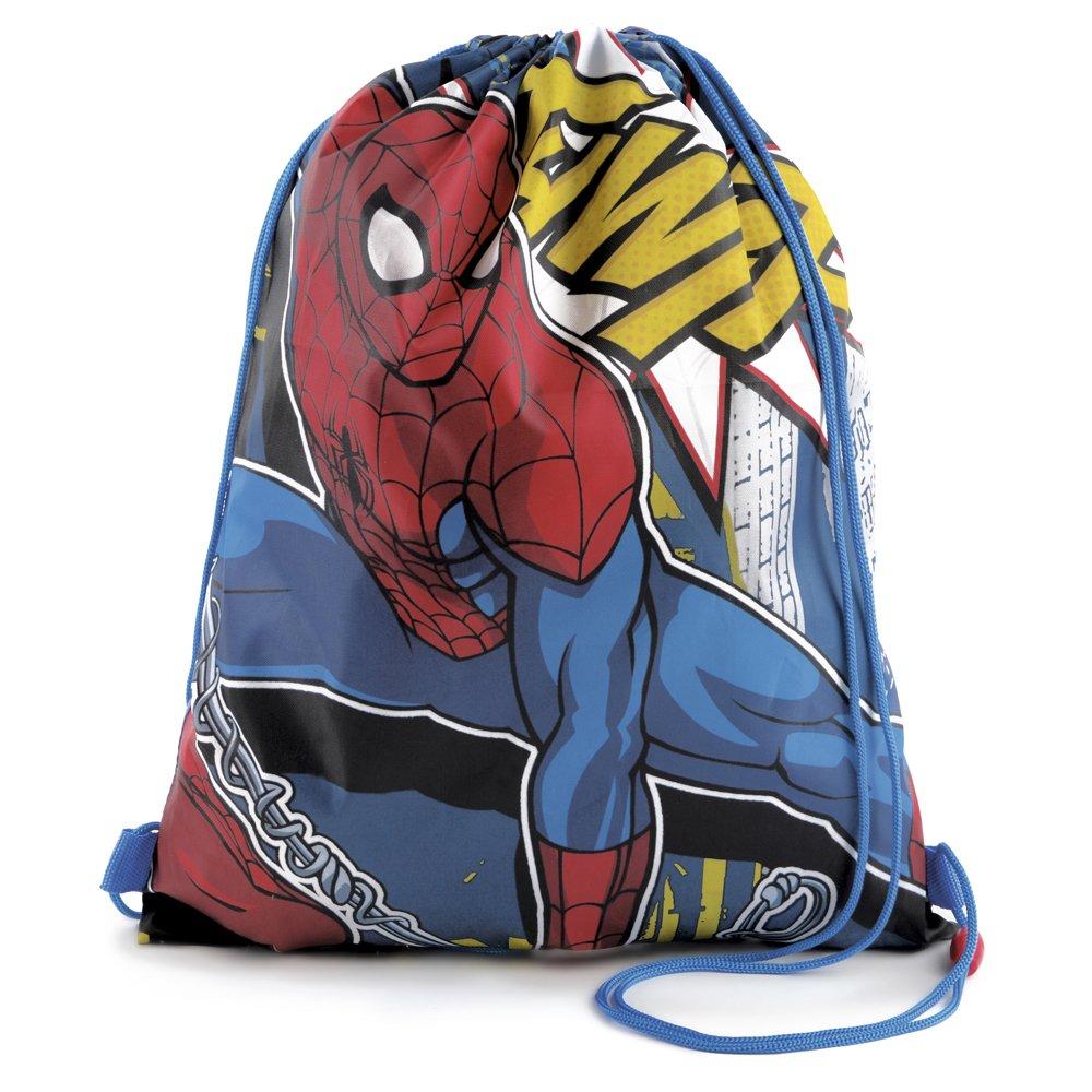 Disney bambino Spiderman-Sacca da palestra con chiusura a cordoncino