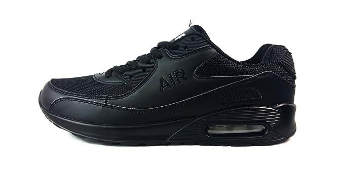 Herren Turnschuhe Sneaker Sportschuhe, Gewebe, schwarz, UK11 / EUR 46