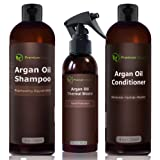 Amazon Price History for:Argan Oil Hair Treatment Gift Set - 3 Piece:Argan Oil Shampoo (8oz) Conditioner (8 oz) & Hair Protection Spray (4oz) - Sulfate Free Organic Hair Repair - Premium Nature