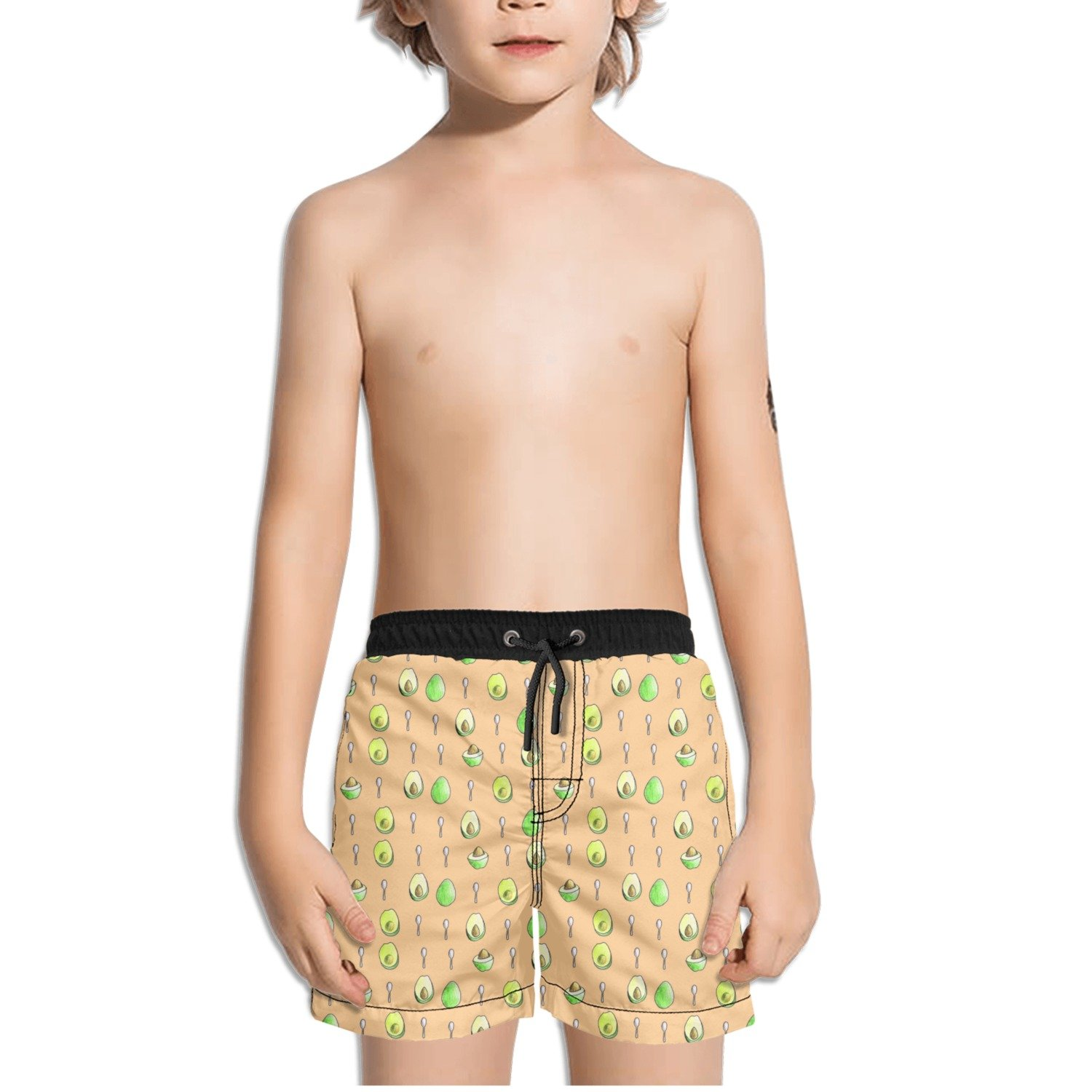 Trum Namii Boys Quick Dry Swim Trunks Avocado Green and Spoon Shorts